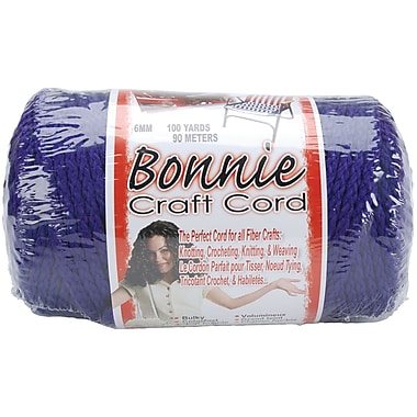 Pepperell BB6-100-040 Purple Bonnie Macrame Craft Cord, 100 yd.
