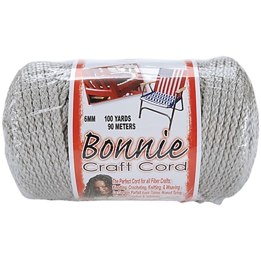 Pepperell BB6-100-041 Shadow Gray Bonnie Macrame Craft Cord, 100 yd.