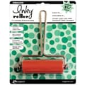 Ranger Inkssentials 3-5/16in. Medium Inky Roller Brayer, Silver & Red