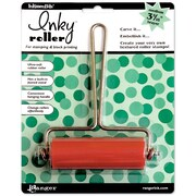 "Ranger Inkssentials 3-5/16"" Medium Inky Roller Brayer, Silver & Red"