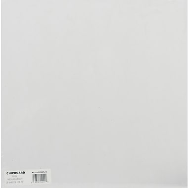 Grafix® 12in. x 12in. Medium Weight Chipboard Sheets, White, 25/Pack