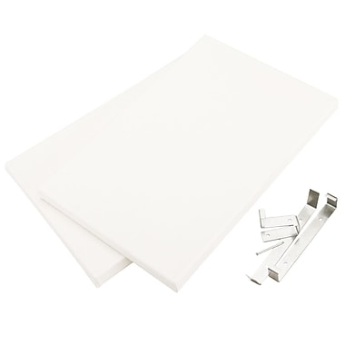 Canvas Concepts™ 8in. x 12in. Fancy Back Decor Canvas, White, 2/pack
