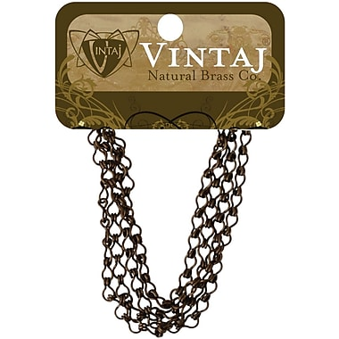 Vintaj® 3.7mm Ladder Chain, Natural Brass, 24
