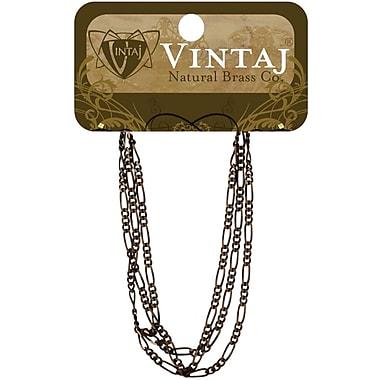 Vintaj® 2mm Figaro Chain, Natural Brass, 18