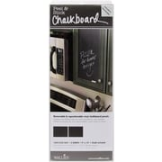 "Wallies® 9"" x 12"" Peel & Stick Chalkboard Panels, Slate Gray"