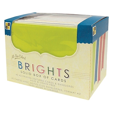 Diecuts With A View A2 Cards and Envelopes, Bright Solid, 40/Pack