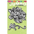 Rubber Stampendous® 9in. x 5in. Jumbo Cling Rubber Stamp, Peony