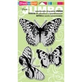 Rubber Stampendous® 7in. x 5in. Jumbo Cling Rubber Stamp, Butterfly Trio