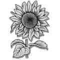 Rubber Stampendous® 7in. x 5in. Jumbo Cling Rubber Stamp, Sunflower