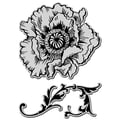 Rubber Stampendous® 9in. x 5in. Jumbo Cling Rubber Stamp, Poppy