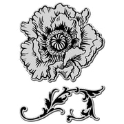 Rubber Stampendous® 9 x 5 Jumbo Cling Rubber Stamp, Poppy