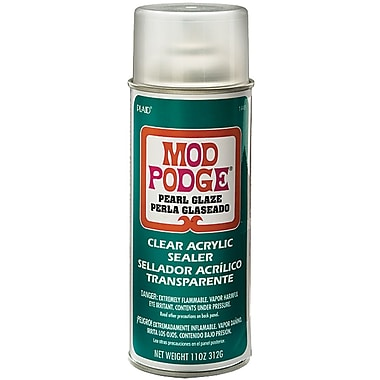Plaid:Craft CS1449 Green Mod Podge Acrylic Sealer Pearlized, 11 oz.