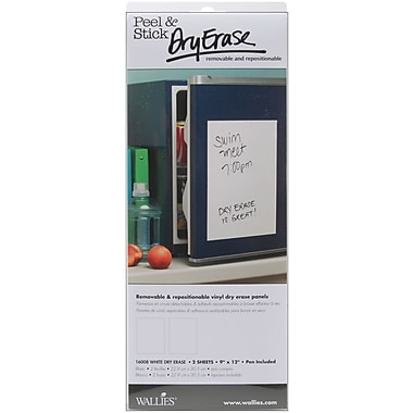 Wallies® Peel & Stick Dry Erase Panels, White