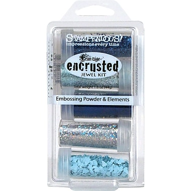 Stampendous® Encrusted 5-Jar Jewel Kit, Blue