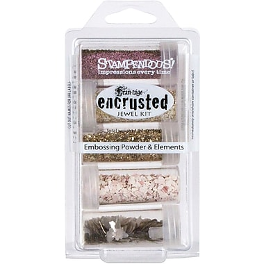 Stampendous® Encrusted 5-Jar Jewel Kit, Pink