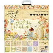 Graphic 45 8 x 8 Double-Sided Paper Pad, Secret Garden