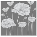 Hero Arts® 3 3/4 x 3 7/8in. Cling Stamp, Poppy Background