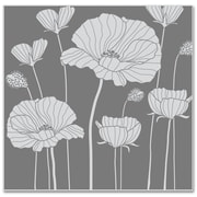 "Hero Arts® 3 3/4 x 3 7/8"" Cling Stamp, Poppy Background"