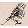 Hero Arts® 3 3/4in. x 3 1/4in. Mounted Rubber Stamp, Newsprint Bird