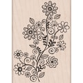 Hero Arts® 4in. x 4in. Mounted Rubber Stamp, Flower Swirl Vine