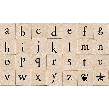 Hero Arts® Mounted Rubber Stamp Set, Printer's Type Lowercase