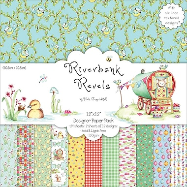 Trimcraft 12in. x 12in. Paper Pack, Riverbank Revels, 24/Pack