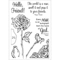 Stampers Anonymous 0.2in. x 4 1/2in. x 8in.Honeypop Clear Stamp Set, Rose Honey