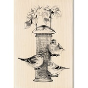 "Inkadinkado® 2 3/4"" x 4"" Mounted Rubber Stamp, Bird Feeder"
