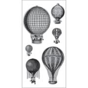 "Hampton Art® Doodlebug 4"" x 9"" Cling Stamp, Hot Air Balloons"