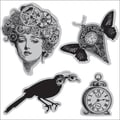 Hampton Art® 4 1/2in. x 4 1/2in. Graphic 45 Cling Stamp, Time Flies