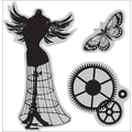 Hampton Art® 4 1/2in. x 4 1/2in. Graphic 45 Cling Stamp, Steam Punk
