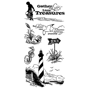Inkadinkado® 4in. x 8in. Clear Stamp, Down By The Seaside