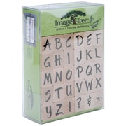 EK Success™ Image Tree Handle Stamp Set, Susy Ratto Brush Letter Alphabet/Upper