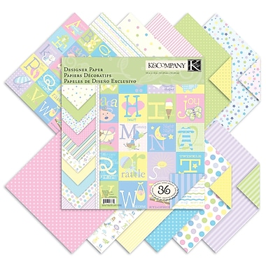 K&Company® 12in. x 12in. Double-Sided Paper Pad, Snuggle Bug
