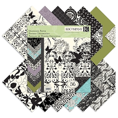 K&Company® 12in. x 12in. Double-Sided Paper Pad, Black & Ivory