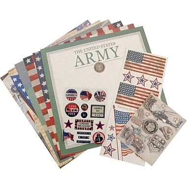 K&Company® Military Scrap Kit, 12in. x 12in., Army
