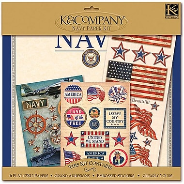 K&Company® Military Scrap Kit, 12in. x 12in., Navy
