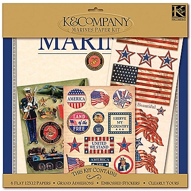 K&Company® Military Scrap Kit, 12in. x 12in., Marines