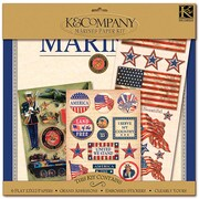 "K&Company® Military Scrap Kit, 12"" x 12"", Marines"