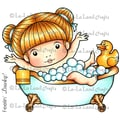 La-La Land 4in. x 3 1/2in. Cling Mount Rubber Stamp, Bath Time Marci