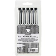 Zig Millennium Point Marker, Black, 5/Pack
