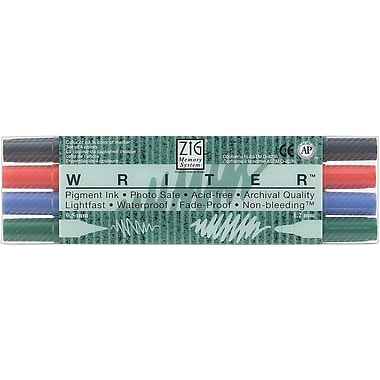Zig® 0.5mm and 1.2mm Memory System Writer Dual-Tip Marker, 4/Pack