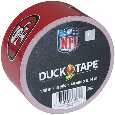 ShurTech NFLDT-40495 10 yd. x 1.88in.W NFL Licensed Duck Tape, San Francisco 49ers