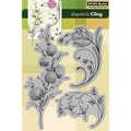 Penny Black® 5in. x 7 1/2in. Cling Rubber Stamp, Delicate Florals