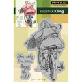 Penny Black® 4in. x 6in. Cling Rubber Stamp, Enjoy The Ride