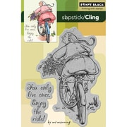 """Penny Black® 4"""" x 6"""" Cling Rubber Stamp, Enjoy The Ride"""