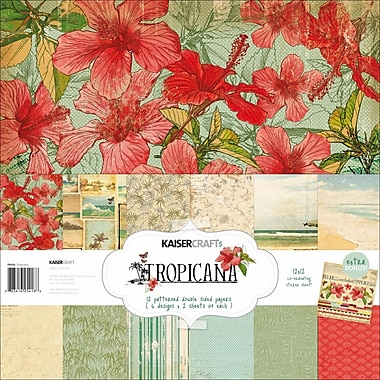 Kaisercraft 12in. x 12in. Paper Pack, Tropicana