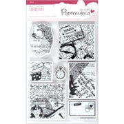 "Docrafts™ 5"" x 7"" Papermania Cling Urban Stamp, Travel Print"