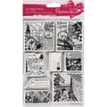 Docrafts™ 5in. x 7in. Papermania Cling Urban Stamp, Bookprint With Pocket Watch