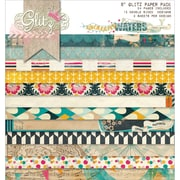 Glitz Design 8 x 8 Double-Sided Paper Pad, Uncharted Waters